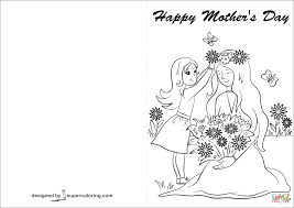 happy mother u0027s day card coloring page free printable coloring pages