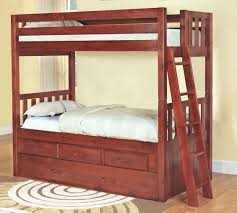 furniture cool brown varnished wooden twin bunk beds for kids also