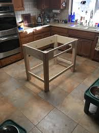 this christmas i made my mom a kitchen island with a custom