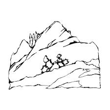 Coloriage De Paysage De Montagne  Coloring Ideas