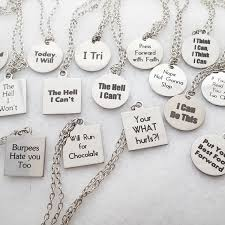 inspirational gifts crossfit jewelry fitness gifts word charms necklace workout
