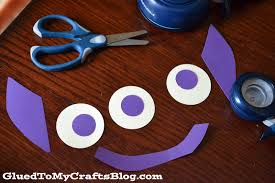 easy paper plate alien kid craft glued to my crafts