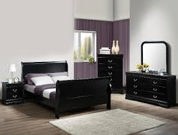 philip youth marble 4 bedroom set in black finish by crown