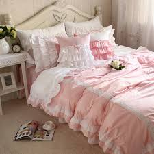 Pink Bedding Sets Aliexpress Com Buy New Sweet Lace Pink Bedding Set Patchwork