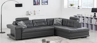 canapé d angle en cuir gris canapé d angle en cuir blanc à prix canon