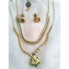 necklace gold jewelry images Buy 1 gram gold jewellery set for wedding online get 0 off jpg