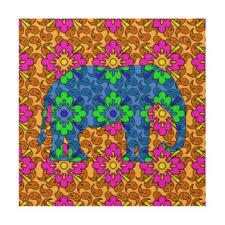 colorful elephant wood wall zazzle