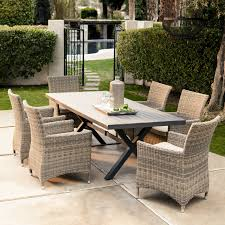 Piece Outdoor Dining Set With Swivel Chairs Patio Outdoor - 7 piece outdoor dining set with round table