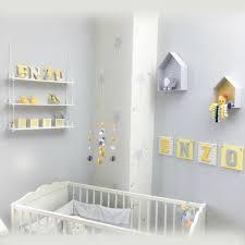 deco chambre d enfant déco chambre d enfant collection jaune et gris idéecréation