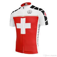 bike wear men 2017 cycling jersey switzerland swiss red clothing bike wear