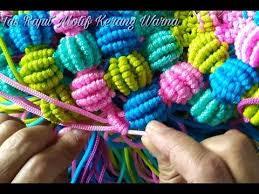youtube cara membuat tas rajut dari tali kur creating macrame bags with motif flower rose color maroon