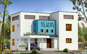 2100 square feet flat roof home kerala home design and floor plans