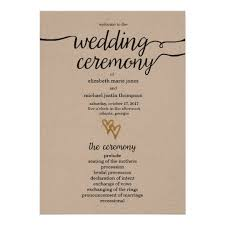 kraft paper wedding programs gold foil hearts kraft paper wedding program zazzle