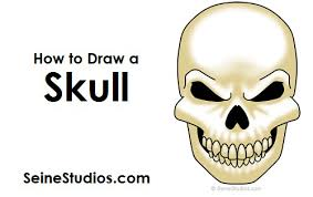 to draw a skull