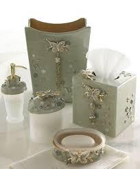 beautiful papillion bathroom vanity accessories butterfly