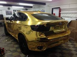 bmw e60 gold bmwx6 wrapped chrome gold by wrapping cars
