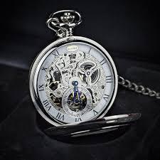 dalvey half hunter skeletal watch u0026 stand set farrar tanner co uk