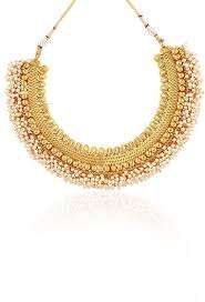 golden fashion necklace images Crunchy fashion traditional indian jewelry copper necklace with jpg