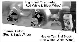 what is the wiring placements for the heating element on a