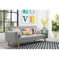 sofa bed in walmart midcentury modern sofa 9 by novogratz furniture collection at