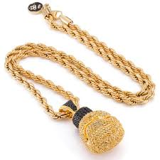 necklace golden images The 14k gold boxing glove necklace hip hop pendants king ice jpg