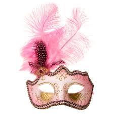 pink masquerade masks blue banana glitter feathers masquerade mask pink blue banana uk