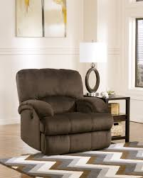 Oversized Swivel Rocker Recliner Buy Kiska Chocolate Power Rocker Recliner By Ashley From Www