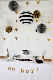 white and gold baby shower black white gold baby shower definitely my inspiration for