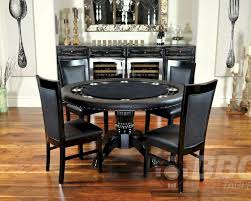 8 player round poker table set with classic chairs pt 77041