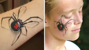 Make Up For Halloween 3d Spider Makeup Arm And Face Painting Tutorial Great Illusion