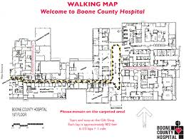 walking map boone county hospital