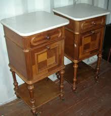 marble top bedside table print page a pair of walnut french marble top bedside tables
