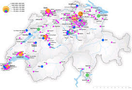 Italy Cities Map by List Of Cities In Switzerland Wikipedia