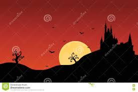 silhouette of halloween castle scenery stock vector image 73352347