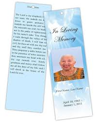 memorial bookmarks funeral phlet template free tomu co