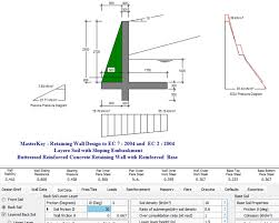 Retaining Wall Design Software MasterKey - Retaining walls designs
