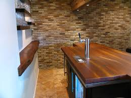 rustic bar with built in bookshelf by jm lifestyles zillow digs rustic bar with terracotta tile floors built in bookshelf standard plank wood countertops