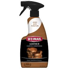 Cleaning Leather Sofa Weiman Leather Cleaner U0026 Conditioner 16 Fl Oz Walmart Com