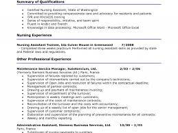 Sample Resume Of Nursing Assistant Download Sample Resume For Cna Haadyaooverbayresort Com