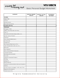 Create Budget Spreadsheet by Simple Budget Worksheet For Young Adults Thebridgesummit Co