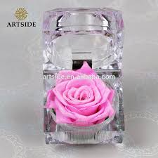 sale sweet preserved natural dry rose red rose in glass box