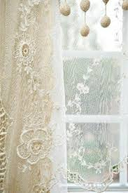 Cream Embroidered Curtains French Linen Curtains Foter