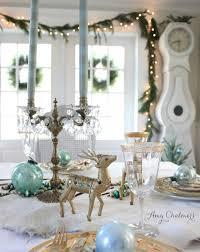 maison decor a nordic blue christmas tablescape