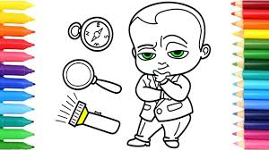the boss baby set for outdoor coloring pages how to draw
