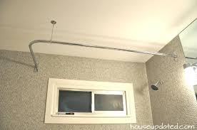 Loaded Shower Curtain Rod Shower Curtain Rods L Shaped Shower Curtain Rod Loaded