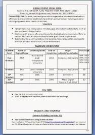 cv format for mca freshers pdf to excel magnificent free resume sles for mca freshers photos exle
