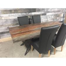 thick grey rosewood live edge dining table rustic furniture outlet