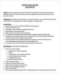 Sample Of Nursing Assistant Resume by Cna Job Description In Nursing Home Duties Nursing Assistants Rn