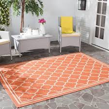 Safavieh Indoor Outdoor Rugs Safavieh Poolside Terracotta Bone Indoor Outdoor Rug 2 7 X 5
