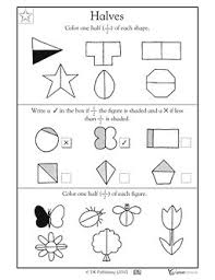 fractions halves activity sheet numeracy maths half fraction